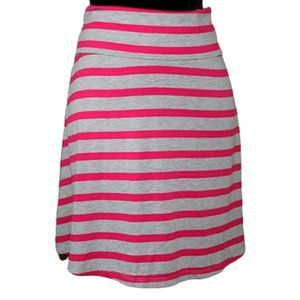 Mossimo Pink and Gray striped skirt Size Small